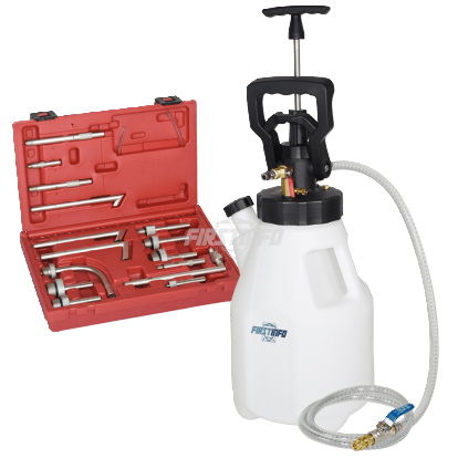 12.5L Pneumatic / Manual ATF Dispenser w/ 15 ATF Adapters