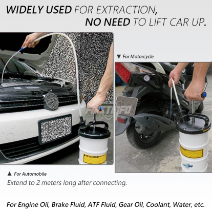 6L Manual Oil & Fluid Extractor with Brake Bleeder Hose