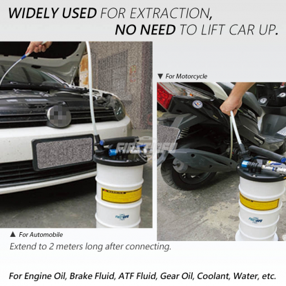 6L Pneumatic / Manual Oil & Fluid Extractor with Brake Bleeder Hose