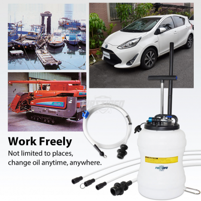 10,5L  Pneumatic / Manual Oil & Fluid Extractor with Brake Bleeder Hose