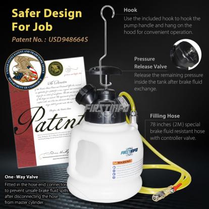 3L Manual Brake Pressure Bleeder Set