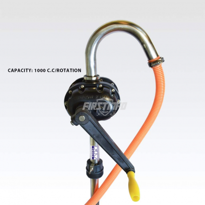 Stainless Steel Hand Operated Rotary Acting Drum Pump (with Rubber Hose)