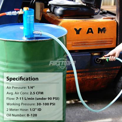 Pneumatic Piston Oil & Liquid Pump (for 50 Gallon Tank & Opening Container)