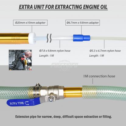 High Flow Pneumatic Oil & Liquid Extractor & Dispenser (for 50 Gallon Tank)