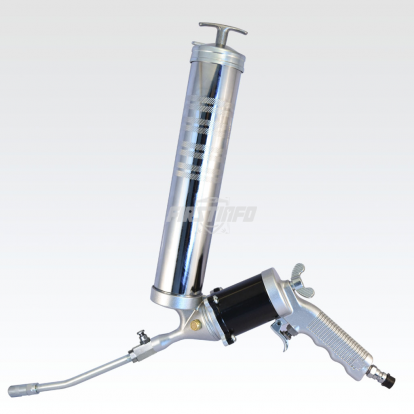 360 Degrees Rotating and Continuous Flow Air Grease Gun  with Smart Air Pocket Release Valve (14 o.z./400C.C.)
