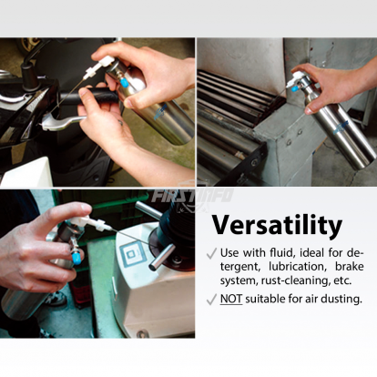 650c.c Air / Pneumatic Refillable Pressure Sprayer (Aluminum Can) with 4 Pcs Nozzle(0.5mm,1.0mm,1.5mm,Two way Nozzle)