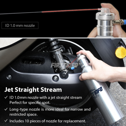 650cc Air Refillable Pressure Sprayer with 10-pc Nozzle (Stainless Steel Can)
