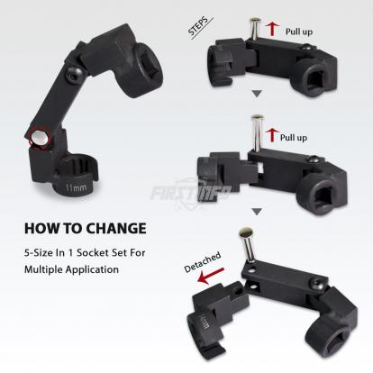 Auto-Flexing Line Socket Set
