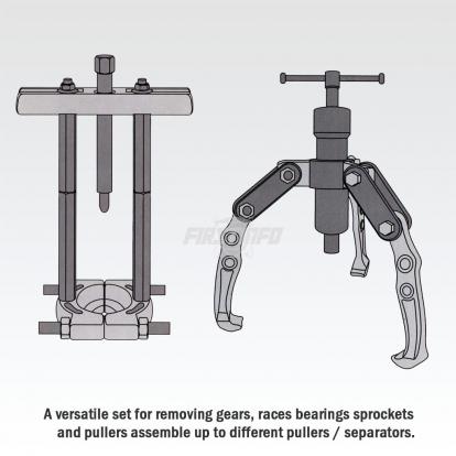 Multi-Function Hydraulic Bearing Puller Set