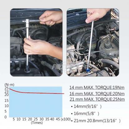 "8 pcs 3/8"" Spark Plug Torque Limited Socket Set"