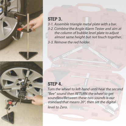 Portable Tires / Wheel Alignment Angle Sensing Tool w/ Digital Protractor