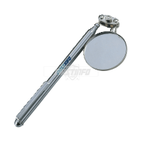 """Extendable Telescopic 1-1/2"""" Inspection Round Mirror with Pocket Clip (Length:4""""~17"""")"""