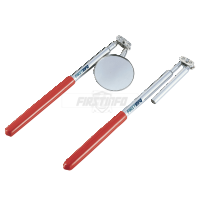 Extendable Telescopic Magnetic Pick-up & O50mm Round Inspection Mirror (Total Length:510mm)