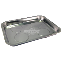 Rectangular Magnetic Stainless Steel Parts Tray (Dim:330x250mm  Depth:28mm)