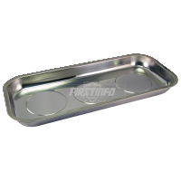 Long Rectangular Magnetic Stainless Steel Parts Tray (Dim:365x165x40mm  Depth:28mm)