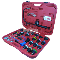 Cooling System Leakage Tester and Vacuum-Type Coolant Refilling Kit