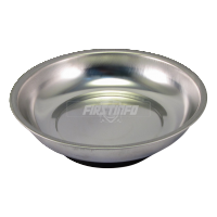 "6"" Round Magnetic Stainless Steel Parts Tray (Dia:150mm x Depth:26mm)"