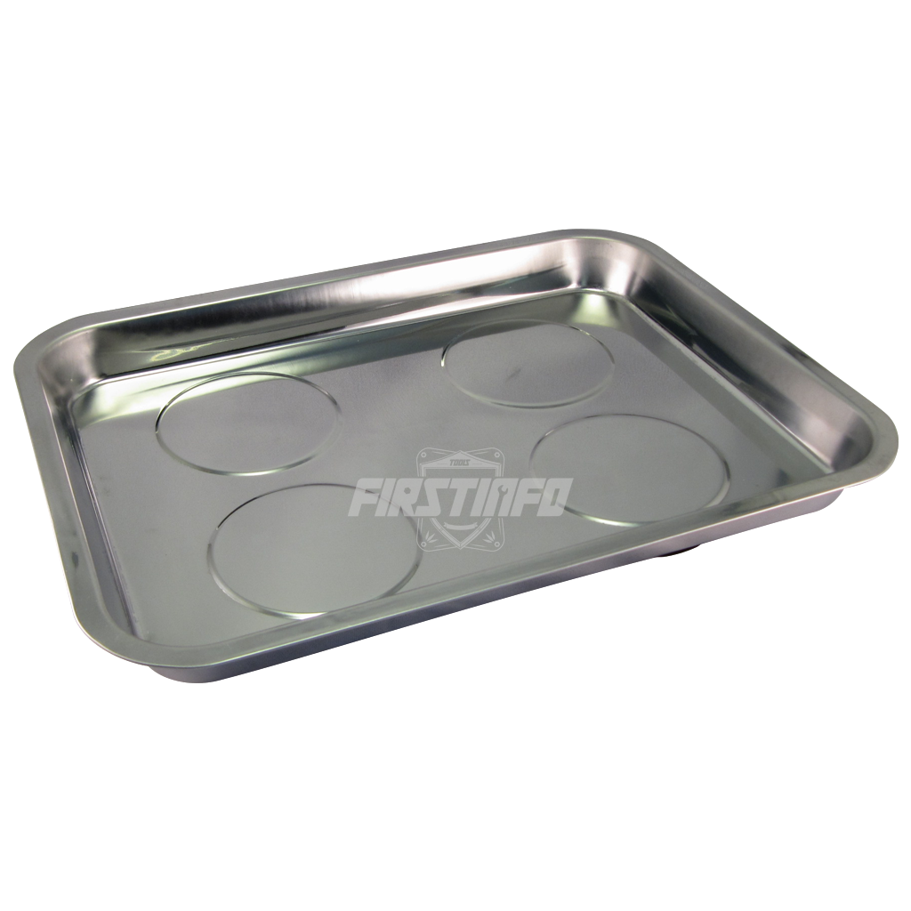 Rectangular Magnetic Stainless Steel Parts Tray Dim